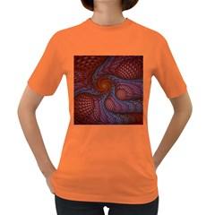 Fractal Red Fractal Art Digital Art Women s Dark T Shirt