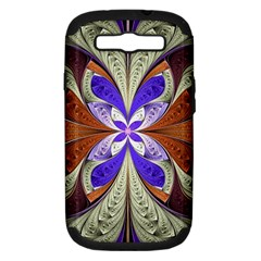 Fractal Splits Silver Gold Samsung Galaxy S Iii Hardshell Case (pc+silicone)