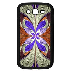 Fractal Splits Silver Gold Samsung Galaxy Grand Duos I9082 Case (black)