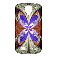 Fractal Splits Silver Gold Samsung Galaxy S4 Classic Hardshell Case (pc+silicone)