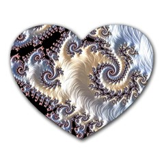 Fractal Art Design Fantasy 3d Heart Mousepads