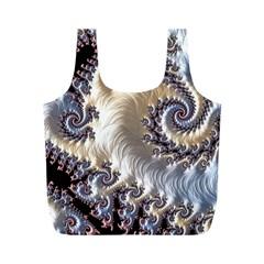 Fractal Art Design Fantasy 3d Full Print Recycle Bags (m)