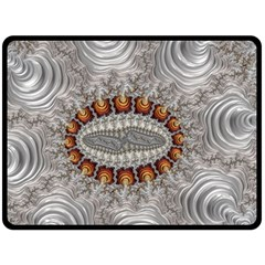Fractal Fantasy Design Imagination Double Sided Fleece Blanket (large)