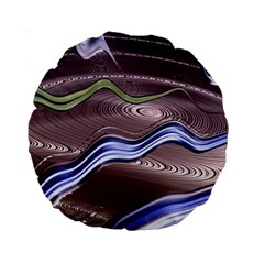 Art Design Decoration Card Color Standard 15  Premium Round Cushions