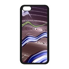 Art Design Decoration Card Color Apple Iphone 5c Seamless Case (black)