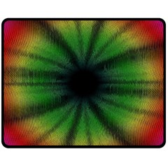 Sunflower Digital Flower Black Hole Double Sided Fleece Blanket (medium)