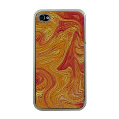 Texture Pattern Abstract Art Apple Iphone 4 Case (clear)