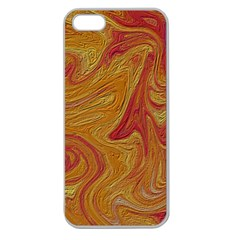 Texture Pattern Abstract Art Apple Seamless Iphone 5 Case (clear)