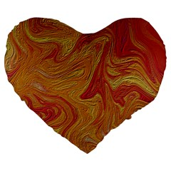 Texture Pattern Abstract Art Large 19  Premium Heart Shape Cushions
