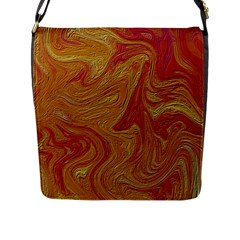 Texture Pattern Abstract Art Flap Messenger Bag (l)
