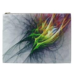 Fractal Art Paint Pattern Texture Cosmetic Bag (xxl)