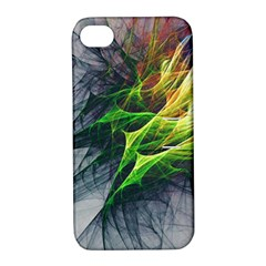 Fractal Art Paint Pattern Texture Apple Iphone 4/4s Hardshell Case With Stand