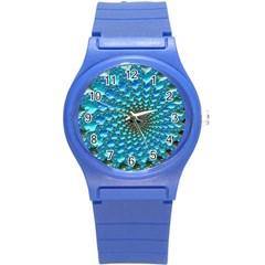Fractal Art Design Pattern Round Plastic Sport Watch (s)