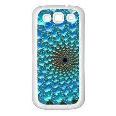 Fractal Art Design Pattern Samsung Galaxy S3 Back Case (white)