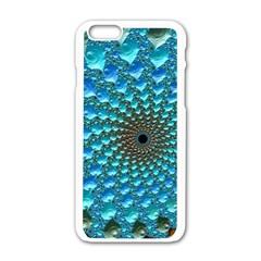 Fractal Art Design Pattern Apple Iphone 6/6s White Enamel Case