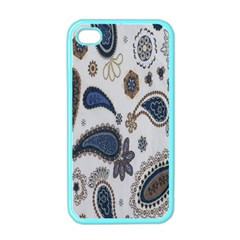 Pattern Embroidery Fabric Sew Apple Iphone 4 Case (color)
