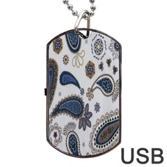 Pattern Embroidery Fabric Sew Dog Tag Usb Flash (one Side)