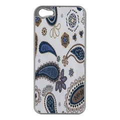 Pattern Embroidery Fabric Sew Apple Iphone 5 Case (silver)