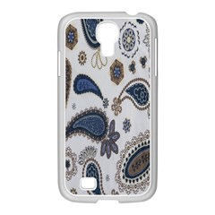 Pattern Embroidery Fabric Sew Samsung Galaxy S4 I9500/ I9505 Case (white)