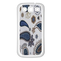 Pattern Embroidery Fabric Sew Samsung Galaxy S3 Back Case (white)