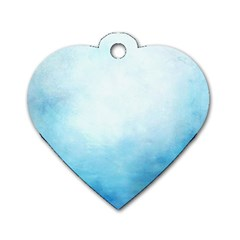 Ombre Dog Tag Heart (one Side)