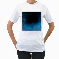 Ombre Women s T Shirt (white)