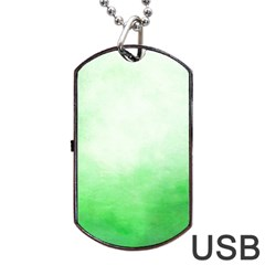 Ombre Dog Tag Usb Flash (one Side)