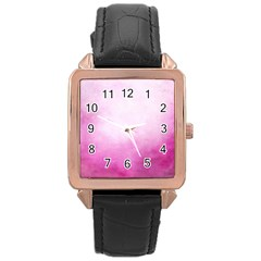 Ombre Rose Gold Leather Watch