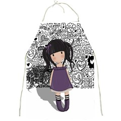 Dolly Girl In Purple Full Print Aprons