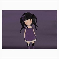 Dolly Girl In Purple Large Glasses Cloth (2 Side)