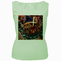 Complexity Chaos Structure Women s Green Tank Top