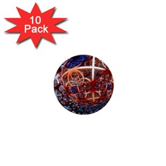 Complexity Chaos Structure 1  Mini Buttons (10 Pack)