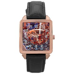 Complexity Chaos Structure Rose Gold Leather Watch