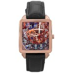 Complexity Chaos Structure Rose Gold Leather Watch  Front