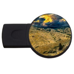 Hills Countryside Landscape Nature Usb Flash Drive Round (2 Gb)