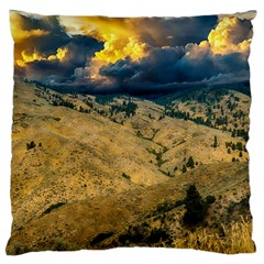 Hills Countryside Landscape Nature Standard Flano Cushion Case (two Sides)