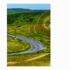 Cliff Coast Road Landscape Travel Small Garden Flag (two Sides)