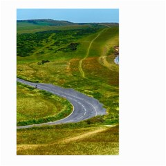 Cliff Coast Road Landscape Travel Large Garden Flag (two Sides)