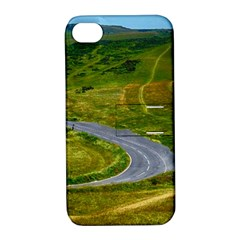 Cliff Coast Road Landscape Travel Apple Iphone 4/4s Hardshell Case With Stand