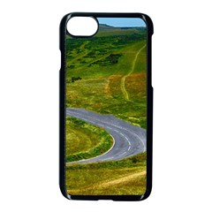 Cliff Coast Road Landscape Travel Apple Iphone 8 Seamless Case (black)