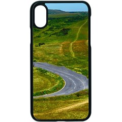 Cliff Coast Road Landscape Travel Apple Iphone X Seamless Case (black)