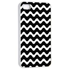 Wave Pattern Wavy Halftone Apple Iphone 4/4s Seamless Case (white)