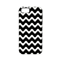 Wave Pattern Wavy Halftone Apple Iphone 5 Classic Hardshell Case (pc+silicone)