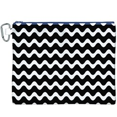 Wave Pattern Wavy Halftone Canvas Cosmetic Bag (xxxl)
