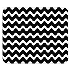Wave Pattern Wavy Halftone Double Sided Flano Blanket (small)