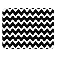 Wave Pattern Wavy Halftone Double Sided Flano Blanket (large)