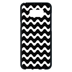 Wave Pattern Wavy Halftone Samsung Galaxy S8 Plus Black Seamless Case