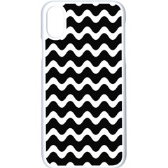 Wave Pattern Wavy Halftone Apple Iphone X Seamless Case (white)