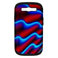Wave Pattern Background Curve Samsung Galaxy S Iii Hardshell Case (pc+silicone)