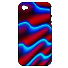 Wave Pattern Background Curve Apple Iphone 4/4s Hardshell Case (pc+silicone)